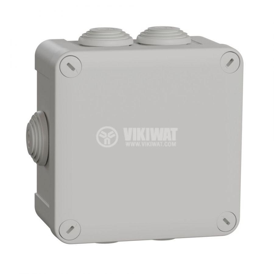 Кутия разклонителна, 125x125x61mm, повърхностен, полипропилен, сив, ENN05005