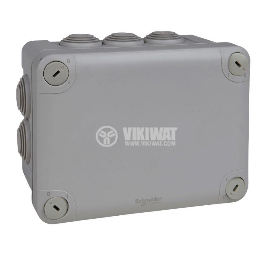 Кутия разклонителна, 165x125x85mm, повърхностен, полипропилен, сив, ENN05007