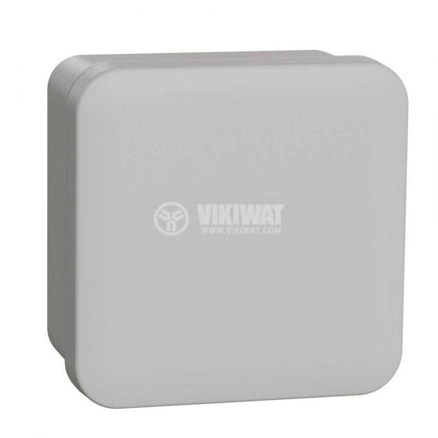 Кутия разклонителна, 89x89x51mm, повърхностен, ABS, сив, ENN05044