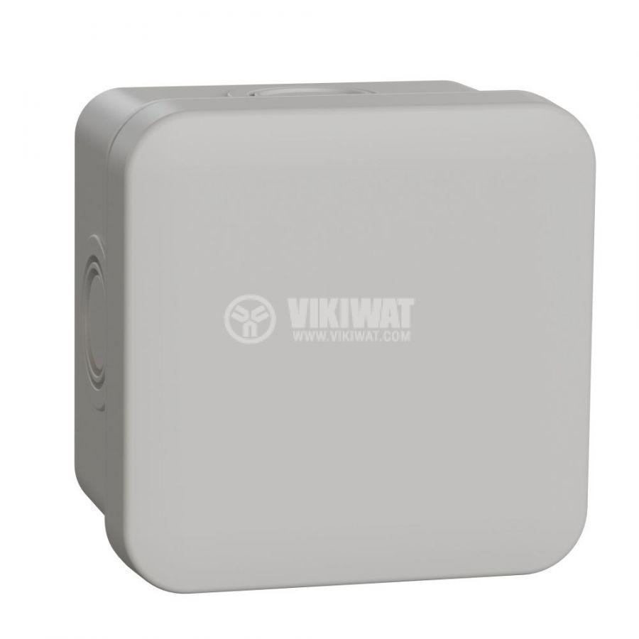 Кутия разклонителна, 74x74x45mm, повърхностен, ABS, сив, ENN05082