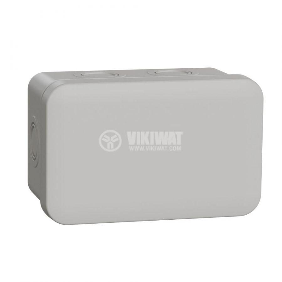 Кутия разклонителна, 116x74x61mm, повърхностен, ABS, сив, ENN05083