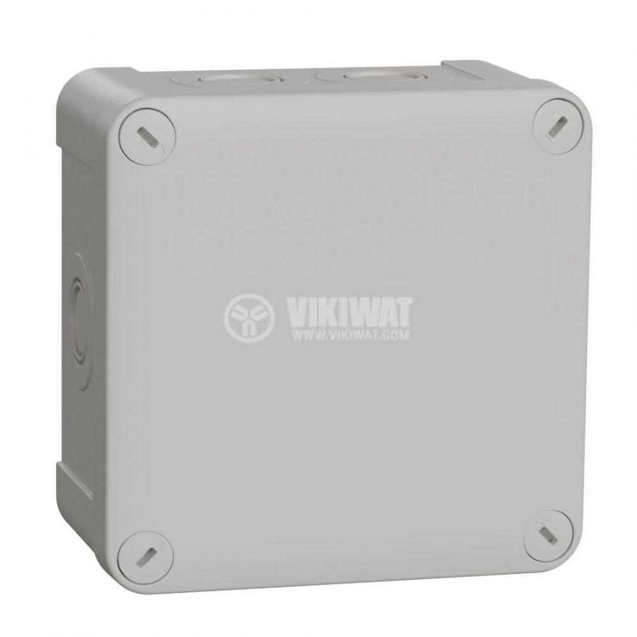Кутия разклонителна, 116x74x61mm, повърхностен, полипропилен, сив, ENN05085