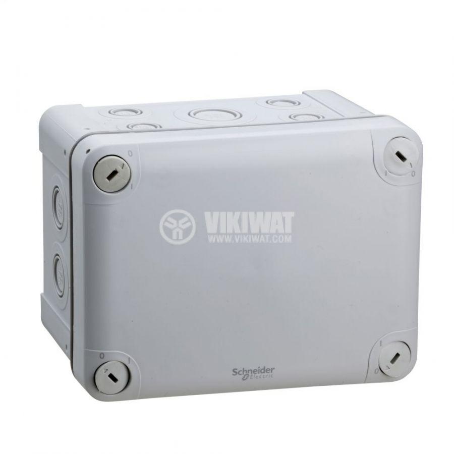 Кутия разклонителна, 165x120x85mm, повърхностен, полипропилен, сив, ENN05087