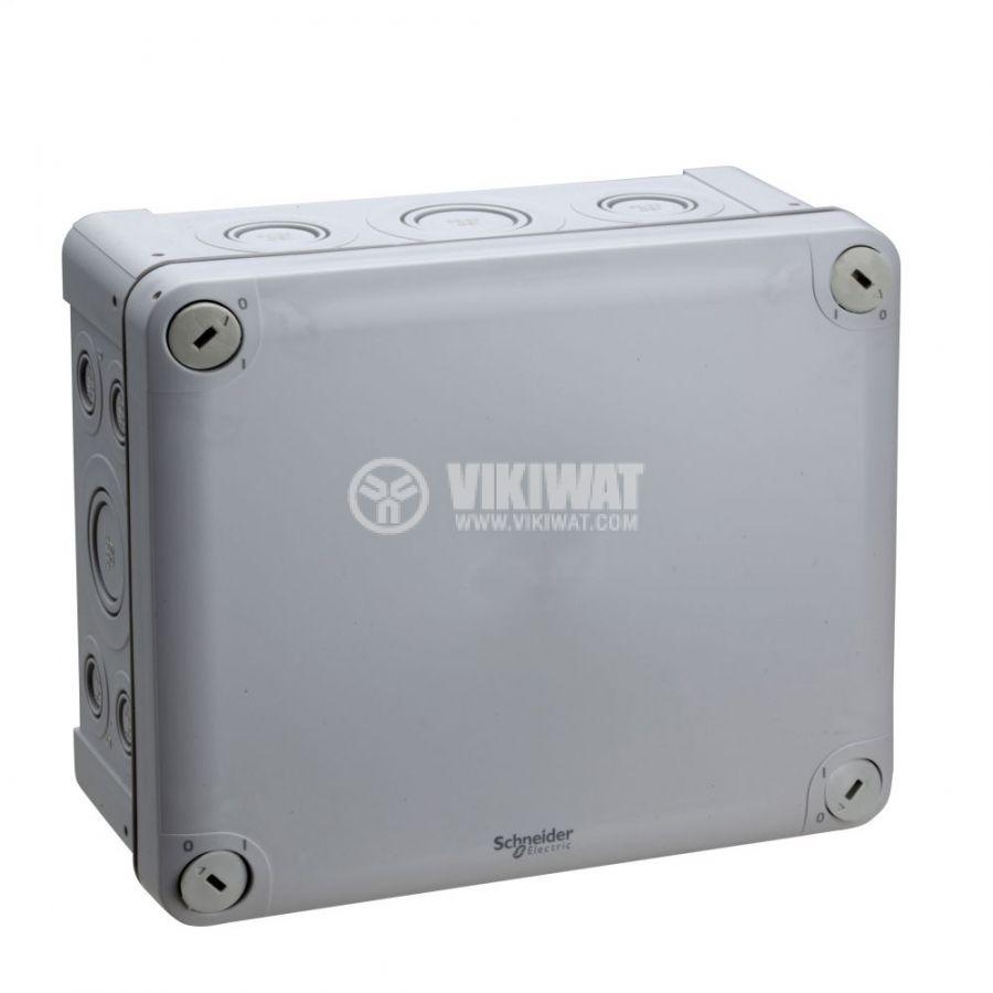 Кутия разклонителна, 195x165x90mm, повърхностен, полипропилен, сив, ENN05090