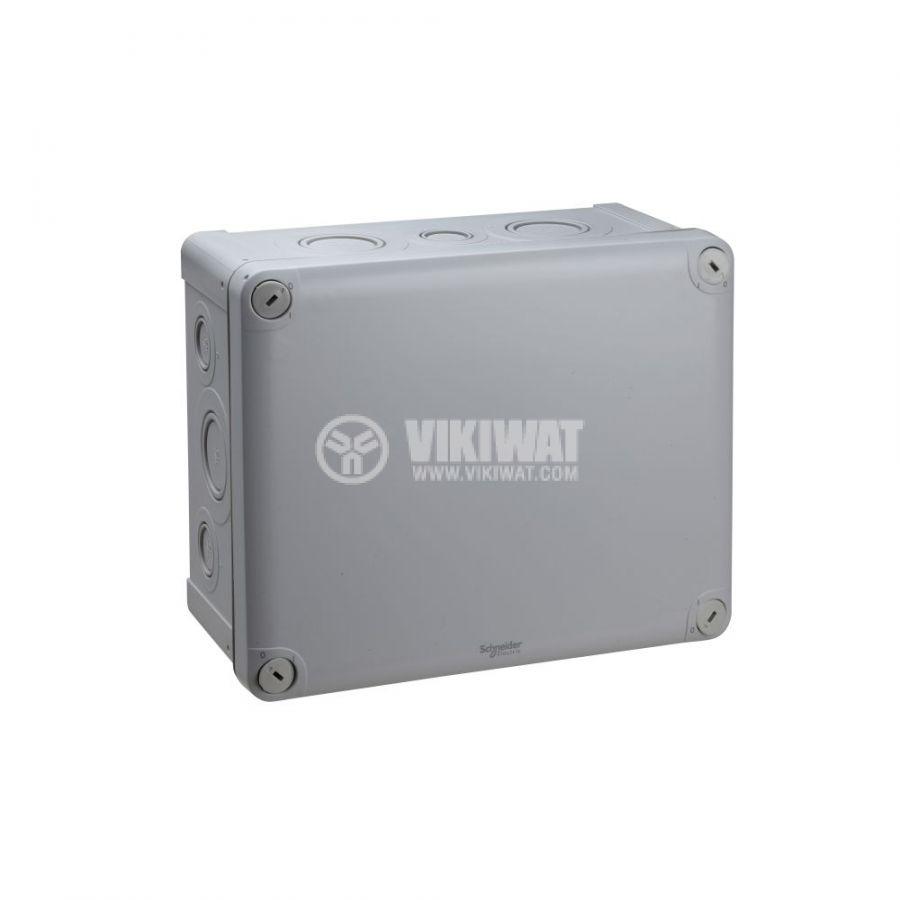 Кутия разклонителна, 240x195x115mm, повърхностен, полипропилен, сив, ENN05093