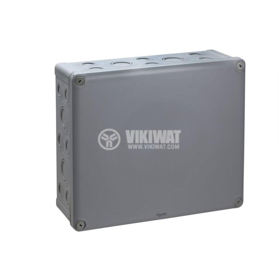 Кутия разклонителна, 340x290x125mm, повърхностен, полипропилен, сив, ENN05099