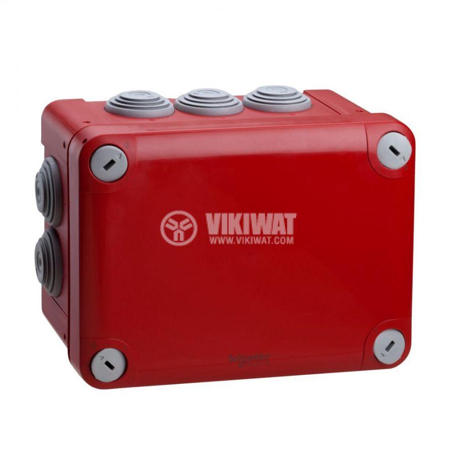 Кутия разклонителна, 171x128x87mm, повърхностен, полипропилен, червен, ENN05167