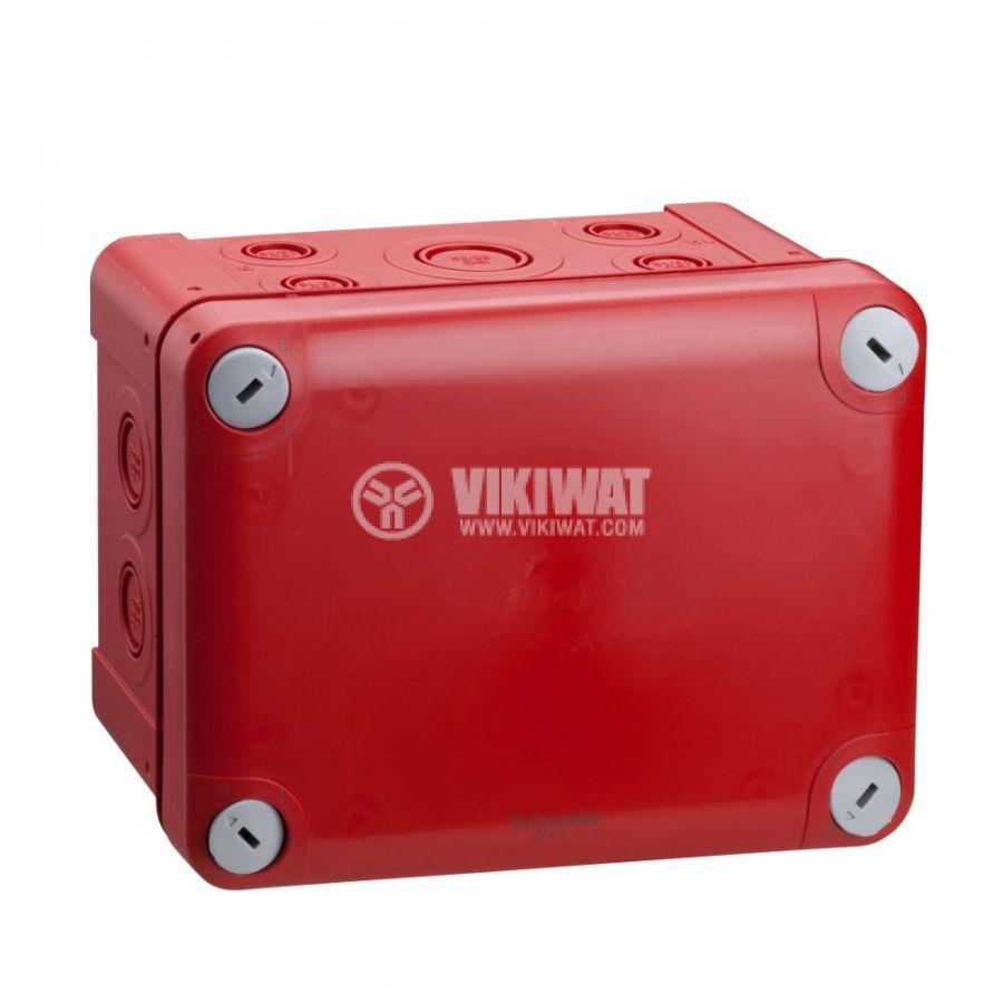 Кутия разклонителна, 171x128x87mm, повърхностен, полипропилен, червен, ENN05177