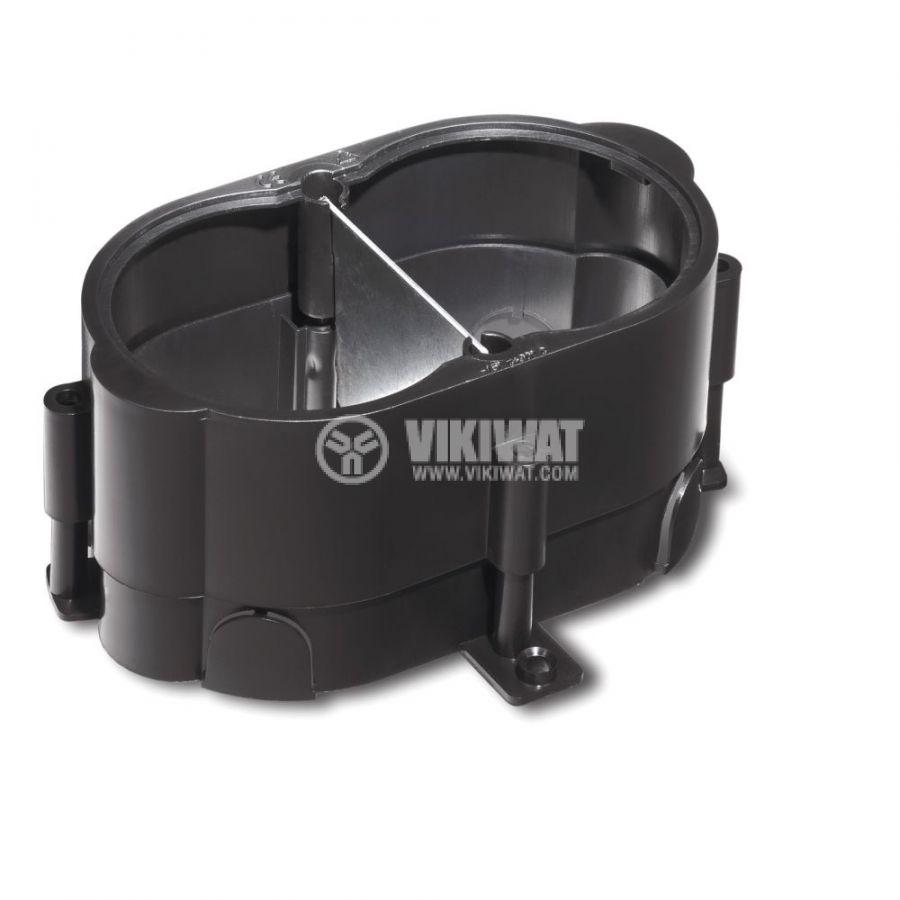Кутия за под, 170x130x80mm, за вграждане, ABS, черен, ETK44832