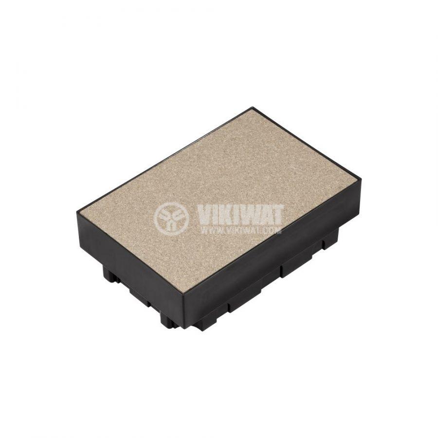 Кутия за под, 252x167x90mm, за вграждане, ABS, черен, ETK44836