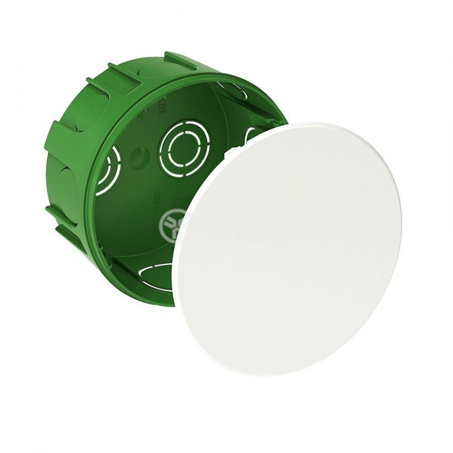 Кутия разклонителна, ф100x50mm, за вграждане, полипропилен, зелен, IMT35121