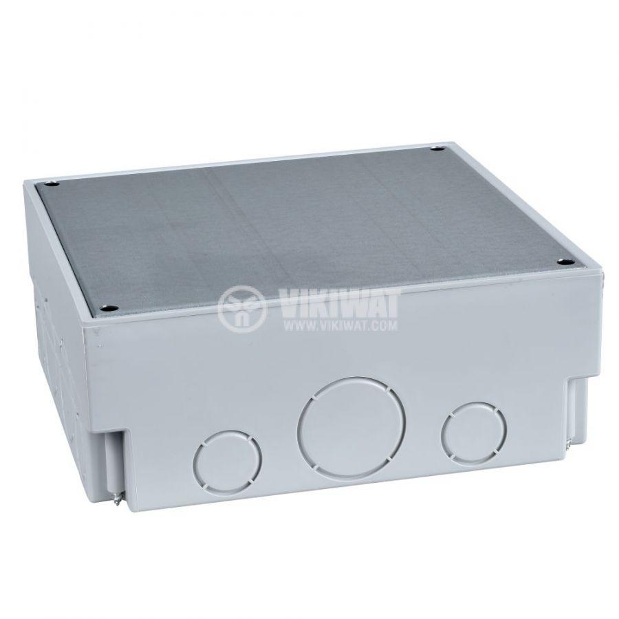 Кутия за под, 183x183x95mm, за вграждане, полипропилен, светлосив, ISM50320