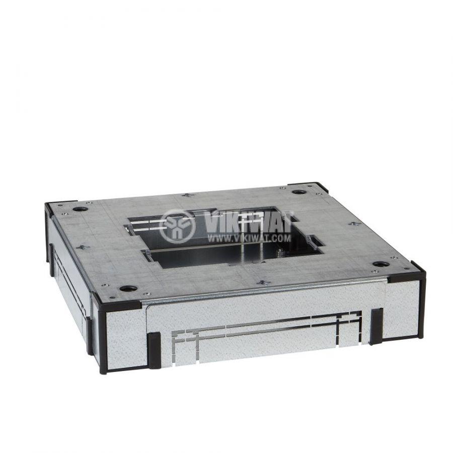 Кутия за под, 350x350x110mm, за вграждане, стомана, сребрист, ISM50322
