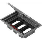Кутия за под, 276x199x72mm, за вграждане, стомана, сив, ISM50636