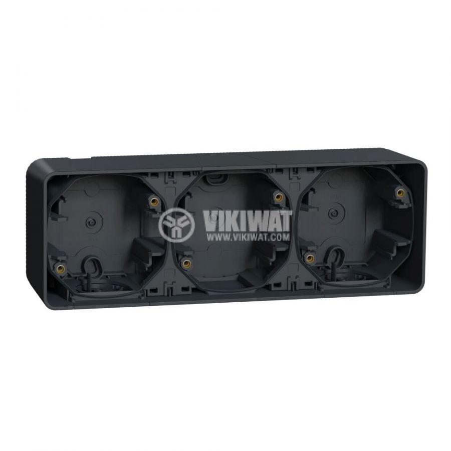 Кутия конзолна, 76x54x54mm, повърхностен, полипропилен, сив, MUR37713