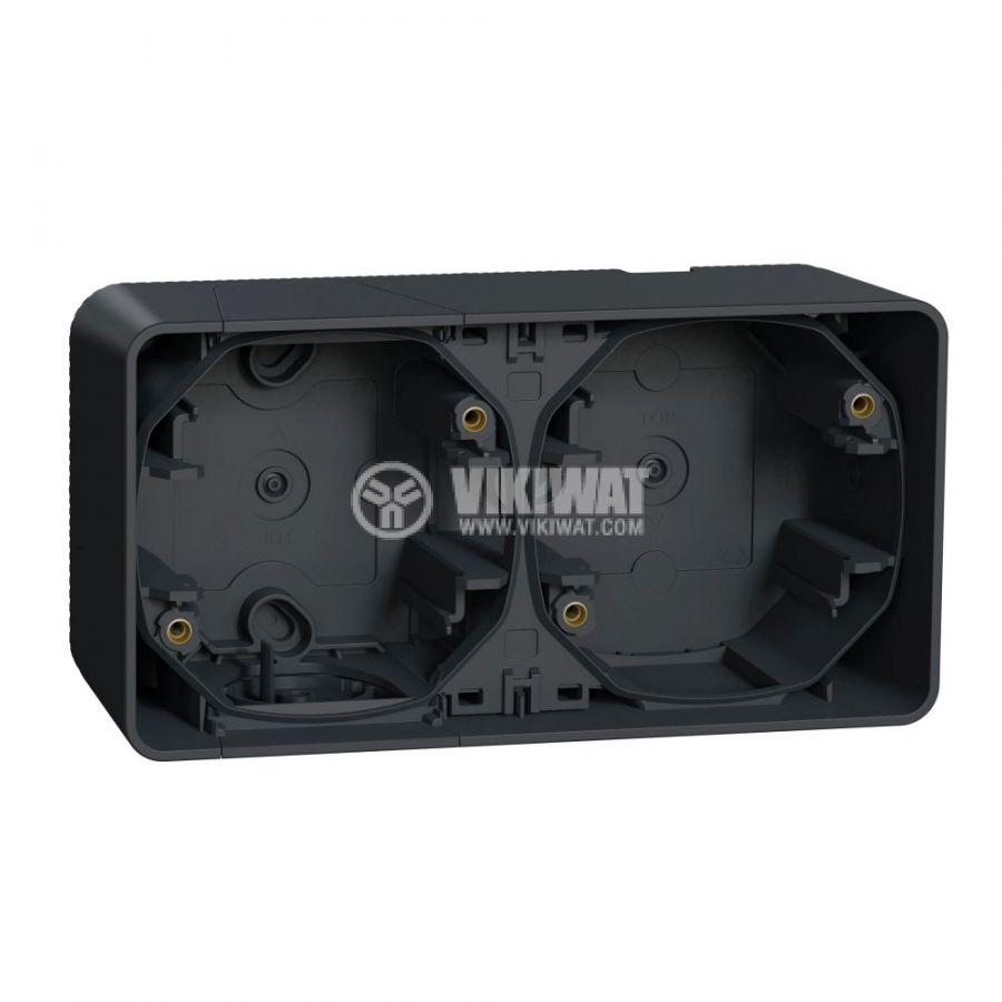 Кутия конзолна, 76x54x54mm, повърхностен, полипропилен, сив, MUR37914