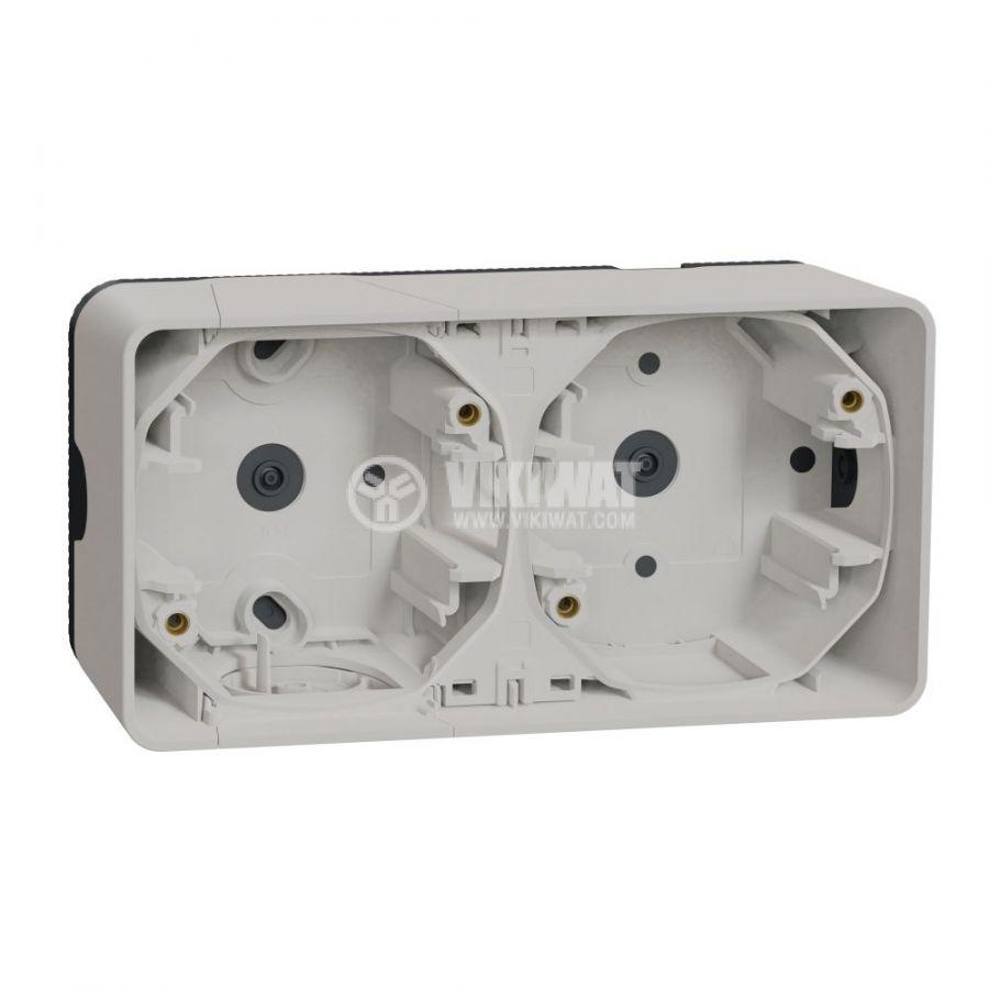 Кутия конзолна, 76x54x54mm, повърхностен, полипропилен, бял, MUR39914