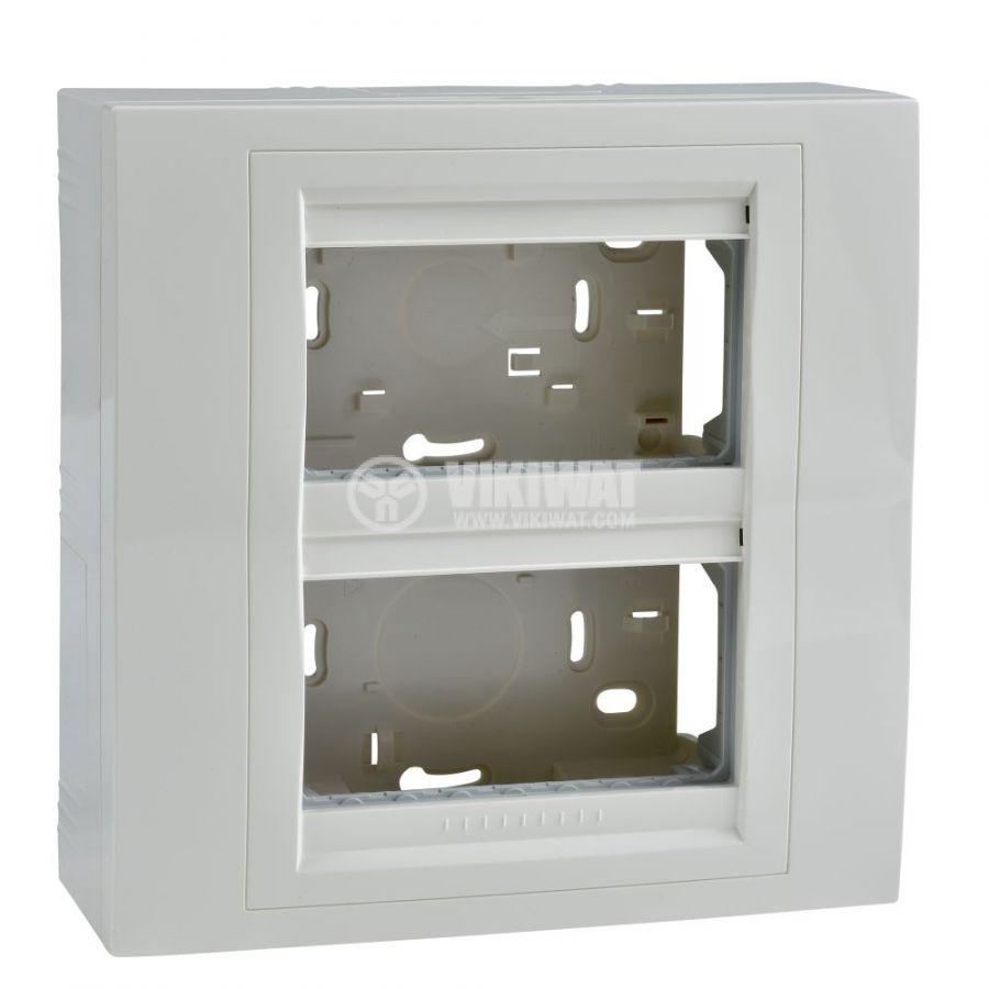 Кутия конзолна, 166x166x58.98mm, повърхностен, ASA, слонова кост, U22.224.25