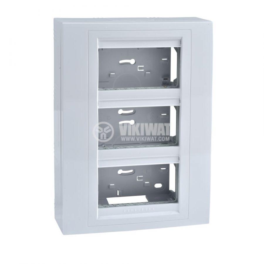 Кутия конзолна, 231x166x58.98mm, повърхностен, ASA, бял, U22.234.18
