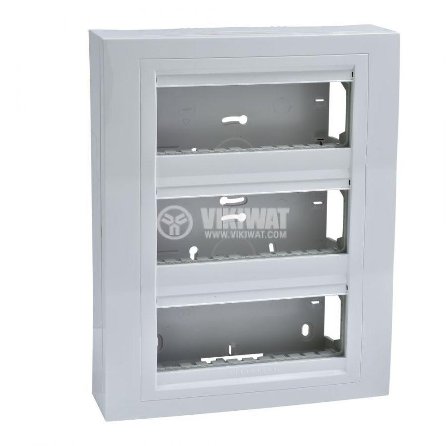 Кутия конзолна, 261x206x58.98mm, повърхностен, ASA, бял, U22.236.18