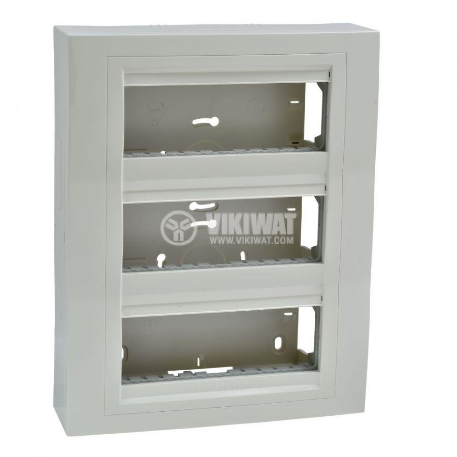 Кутия конзолна, 261x206x58.98mm, повърхностен, ASA, слонова кост, U22.236.25