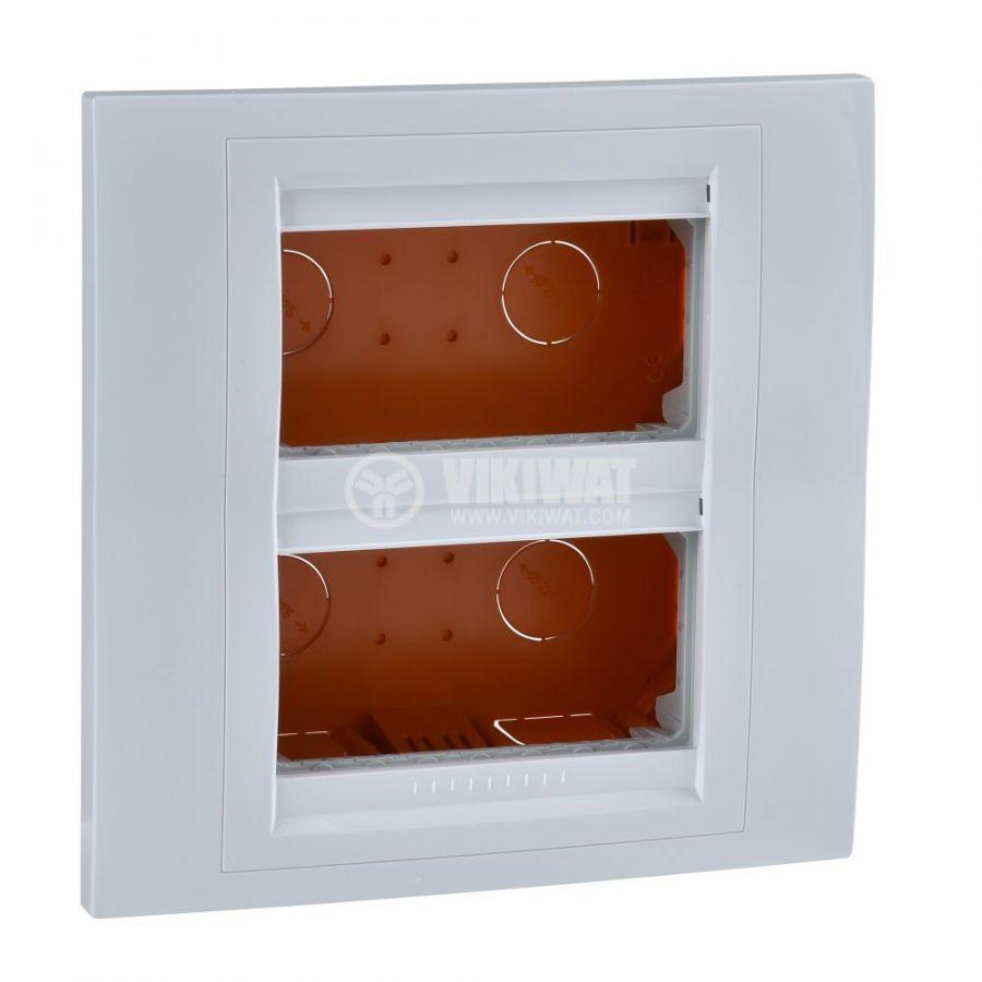 Кутия конзолна, 166x166x58.75mm, за вграждане, ASA, бял, U22.724.18