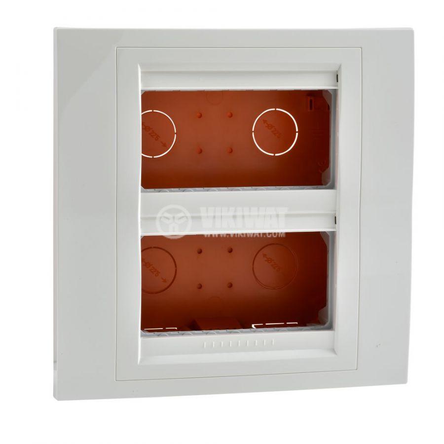 Кутия конзолна, 166x166x58.75mm, за вграждане, ASA, слонова кост, U22.724.25