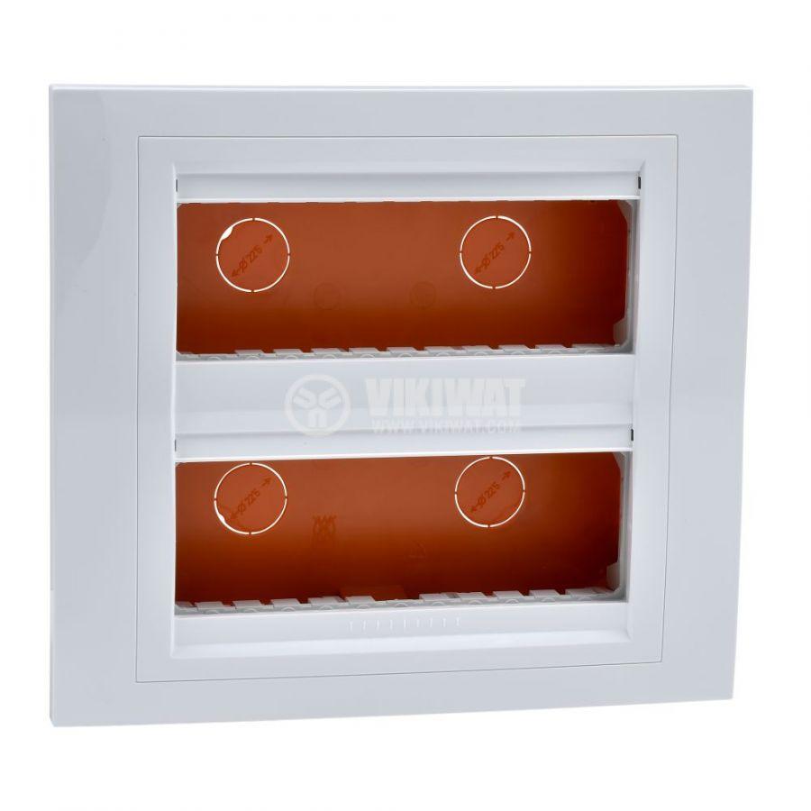Кутия конзолна, 206x186x58.75mm, за вграждане, ASA, бял, U22.726.18