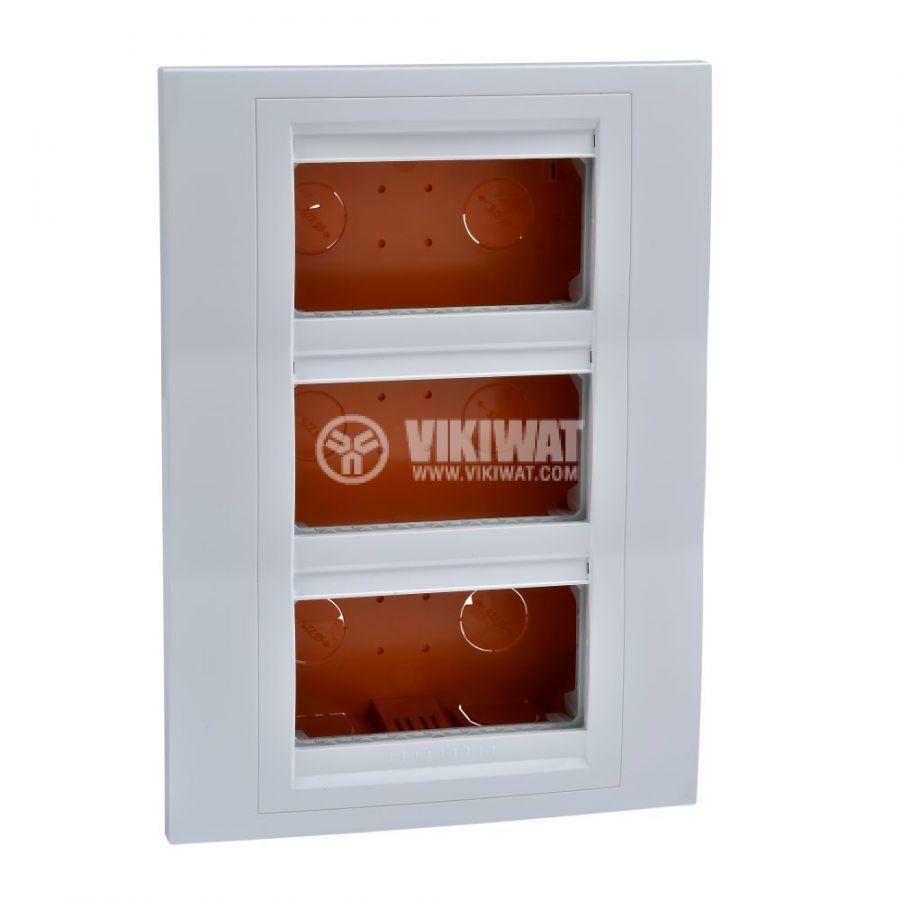 Кутия конзолна, 231x166x58.75mm, за вграждане, ASA, бял, U22.734.18