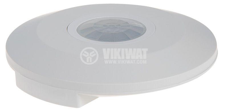 PIR шалтер, сензор, 230VAC, 2000W, 360°, 6m, COMMEL C311-105 SLIM  - 2