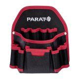PARABELT Nail Pocket Belt Bag, 6 pockets, black with red lip