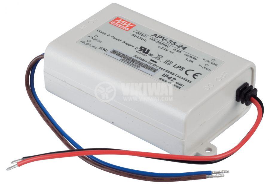 Импулсно захранване 1.5A/24V 36W IP42 APV-35-24 постоянно напрежение