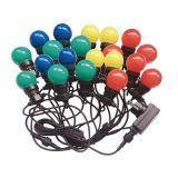 Светеща коледна украса тип въже с 20 LED крушки 10m 10W цветни RGBY