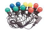 Светеща коледна украса тип въже с 10 LED крушки 5m 5W цветни RGBY