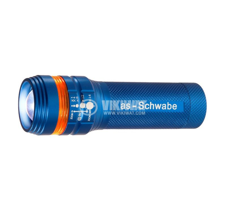 LED фенер, алуминиев, 1LED, Zoom 5m, 110lm, 3xAAA,  XT 1, 42804, AS Schwabe - 2