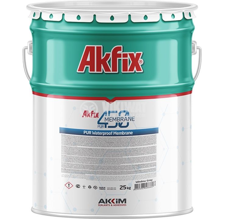 Полиуретанова мембрана Akfix PUR450 25kg хидроизолация сива