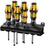 Комплект от 6 ударни отвертки, прави и кръстати, WERA 932/6 Kraftform