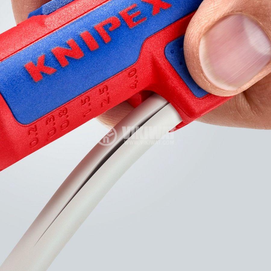 Инструмент за оголване на кабели 0.2-4mm2 KNIPEX 16 95 01 SB - 5