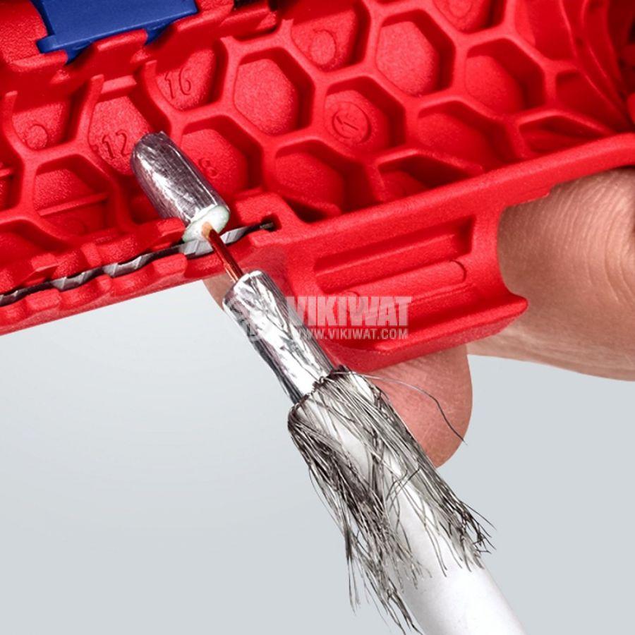 Инструмент за оголване на кабели 0.2-4mm2 KNIPEX 16 95 01 SB - 3