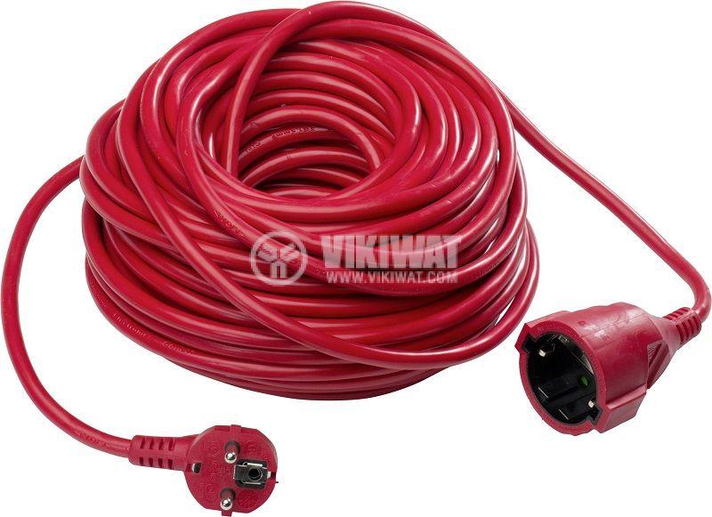 Удължител, 10m, 3x1.5mm2, IP20, невлагозащитен, червен, AS SCHWABE