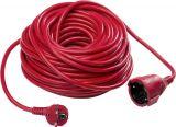Удължител, 20m, 3x1.5mm2, IP20, невлагозащитен, червен, AS SCHWABE