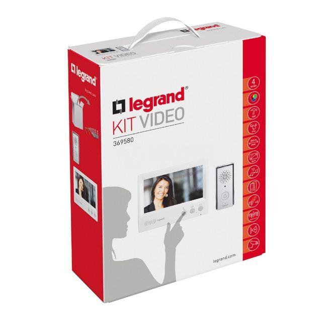 Видео домофон комплект, 369580, 7inch, 12 мелодии, IP54, 4 проводника, Legrand - 3