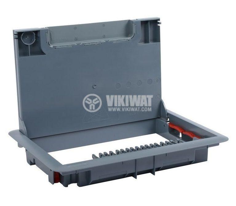 Капак за подова кутия, 286x203x41mm, за вграждане на 12/8 модула, пластмаса, 88000 - 1