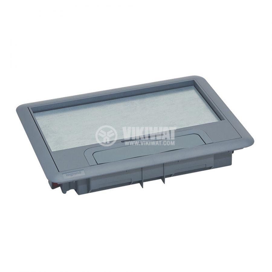 Капак за подова кутия, 286x203x41mm, за вграждане на 12/8 модула, пластмаса, 88000 - 2