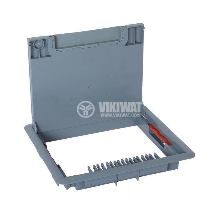 Капак за подова кутия, 286x286x41mm, за вграждане на 24/16 модула, пластмаса, 88002 - 1