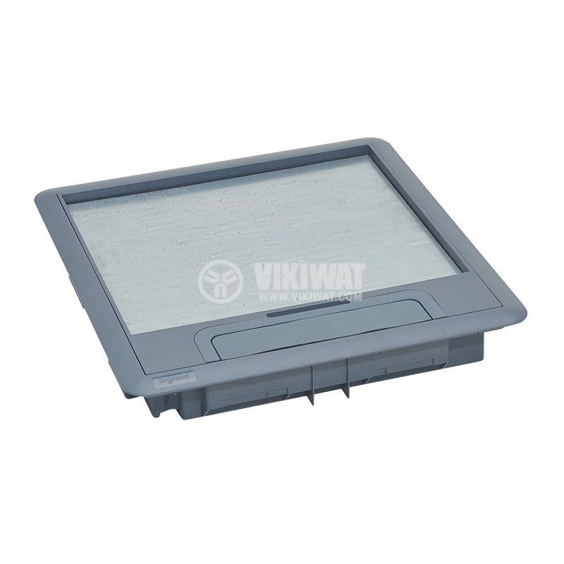 Капак за подова кутия, 286x286x41mm, за вграждане на 24/16 модула, пластмаса, 88002 - 2