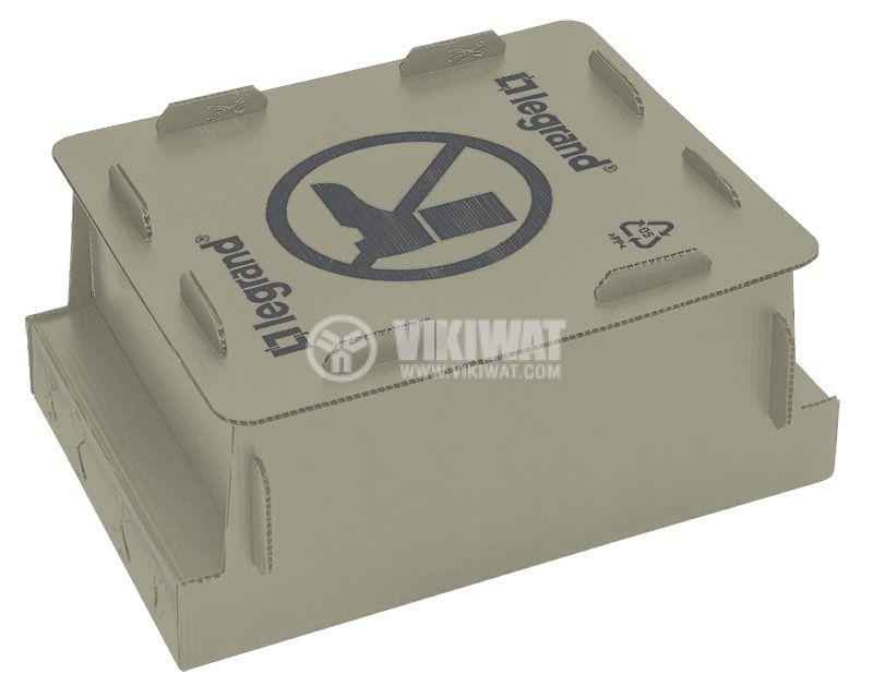 Конзола за замазка, 257x272x132mm, за 12/8 модулна подова кутия, 88190 - 1