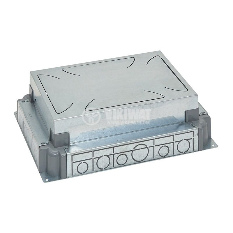 Конзола за замазка, 325x242x90mm, метална, за 12/8 модулна подова кутия, 88090 - 1