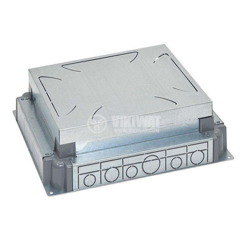Конзола за замазка, 340x242x90mm, метална, за 18/12 модулна подова кутия, 88091 - 1