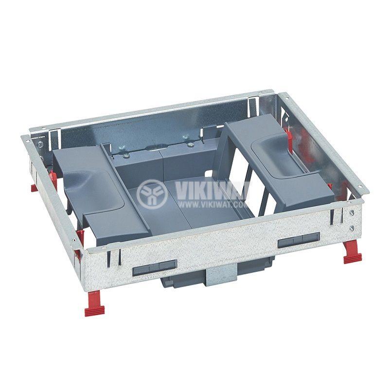Основа за подова кутия, 281.3x236.3x80.7mm, метална, за 12 модула, 88024  - 1